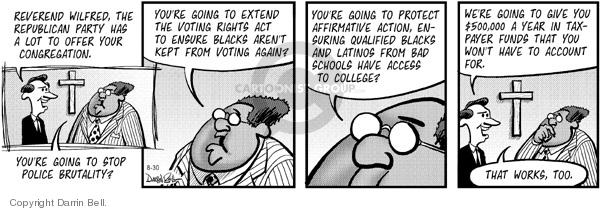 Comic Strip Darrin Bell  Candorville 2005-08-30 civil rights