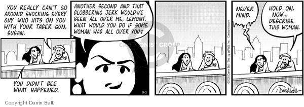 Comic Strip Darrin Bell  Candorville 2005-09-03 defense
