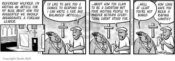 Comic Strip Darrin Bell  Candorville 2005-09-06 lunatic