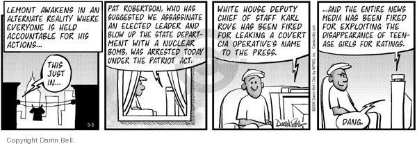 Cartoonist Darrin Bell  Candorville 2005-09-09 talk radio