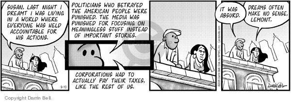 Comic Strip Darrin Bell  Candorville 2005-09-10 instead