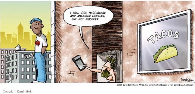 Comic Strip Darrin Bell  Candorville 2005-09-11 taco