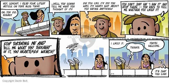 Comic Strip Darrin Bell  Candorville 2005-09-18 critical
