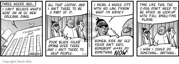 Comic Strip Darrin Bell  Candorville 2005-09-19 public safety