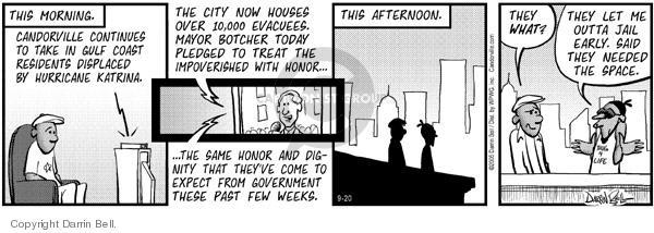 Comic Strip Darrin Bell  Candorville 2005-09-20 displace