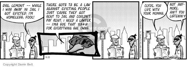 Comic Strip Darrin Bell  Candorville 2005-09-22 ain't
