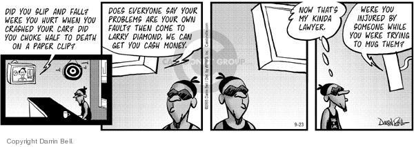 Comic Strip Darrin Bell  Candorville 2005-09-23 injury