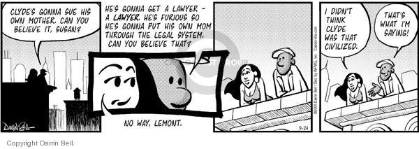 Comic Strip Darrin Bell  Candorville 2005-09-24 furious