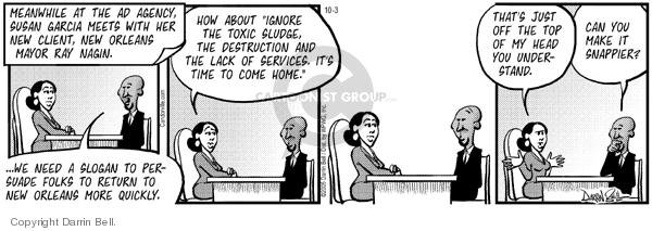 Comic Strip Darrin Bell  Candorville 2005-10-03 public safety