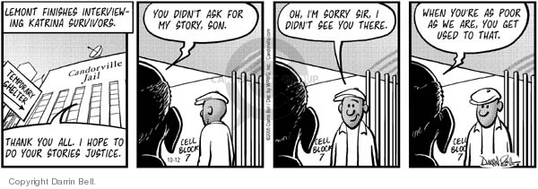Comic Strip Darrin Bell  Candorville 2005-10-12 poverty