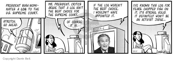 Comic Strip Darrin Bell  Candorville 2005-10-17 supreme court nominee