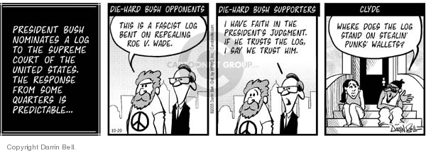 Comic Strip Darrin Bell  Candorville 2005-10-20 presidential appointment