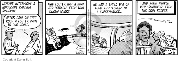 Comic Strip Darrin Bell  Candorville 2005-10-26 boat