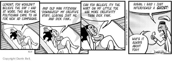 Comic Strip Darrin Bell  Candorville 2005-10-31 Dick