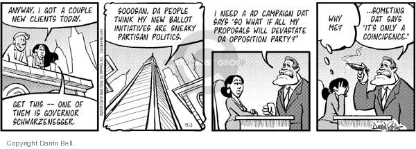 Cartoonist Darrin Bell  Candorville 2005-11-03 language
