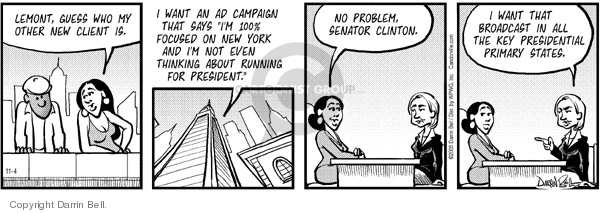 Comic Strip Darrin Bell  Candorville 2005-11-04 election