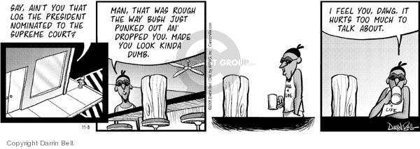 Comic Strip Darrin Bell  Candorville 2005-11-08 ain't
