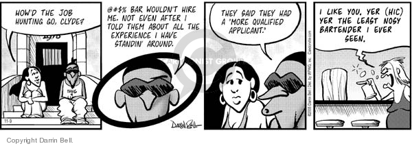 Comic Strip Darrin Bell  Candorville 2005-11-09 work experience