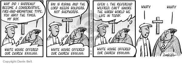 Comic Strip Darrin Bell  Candorville 2005-11-18 faith-based