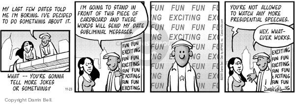 Comic Strip Darrin Bell  Candorville 2005-11-23 joke