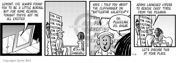 Comic Strip Darrin Bell  Candorville 2005-11-24 sugar
