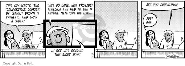 Comic Strip Darrin Bell  Candorville 2005-11-25 feedback