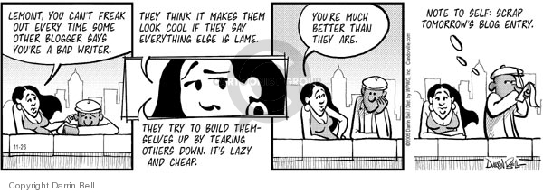Comic Strip Darrin Bell  Candorville 2005-11-26 critical