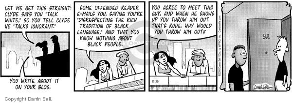 Cartoonist Darrin Bell  Candorville 2005-11-29 language
