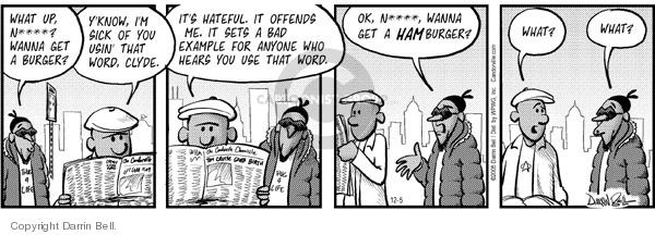 Comic Strip Darrin Bell  Candorville 2005-12-05 eat