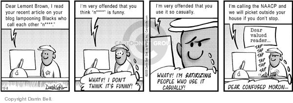 Cartoonist Darrin Bell  Candorville 2005-12-08 language