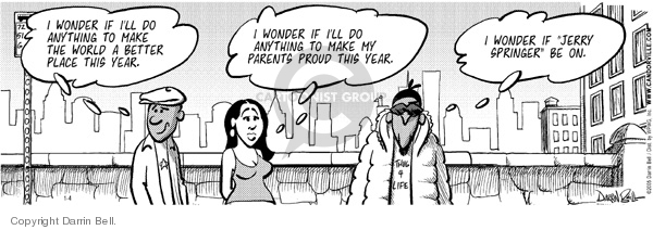 Cartoonist Darrin Bell  Candorville 2006-01-04 parenting lifestyle