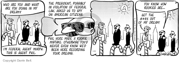 Comic Strip Darrin Bell  Candorville 2006-01-10 espionage
