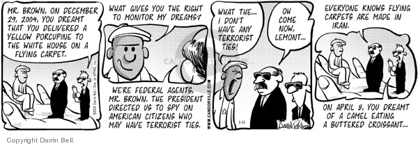 Comic Strip Darrin Bell  Candorville 2006-01-11 espionage