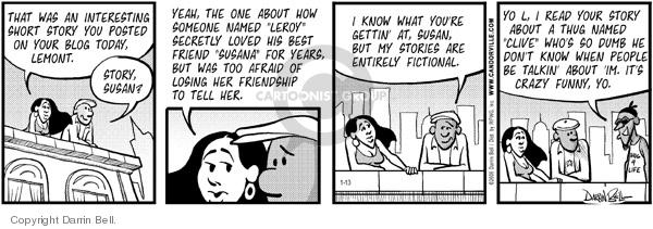 Comic Strip Darrin Bell  Candorville 2006-01-13 Leroy