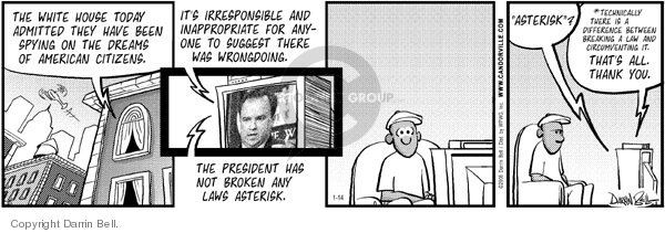 Comic Strip Darrin Bell  Candorville 2006-01-14 espionage