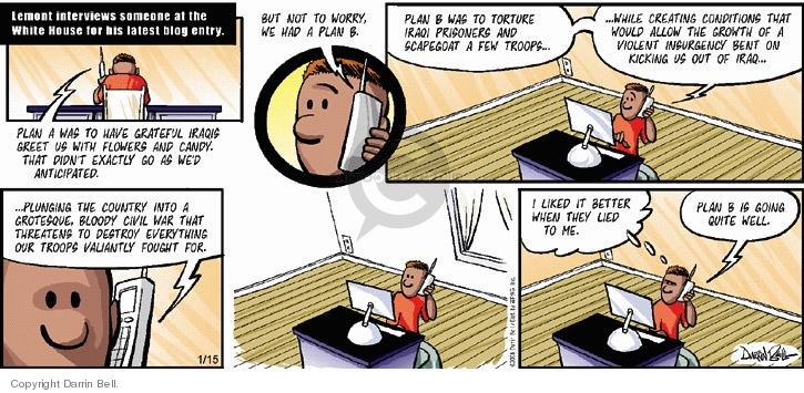 Comic Strip Darrin Bell  Candorville 2006-01-15 bloody