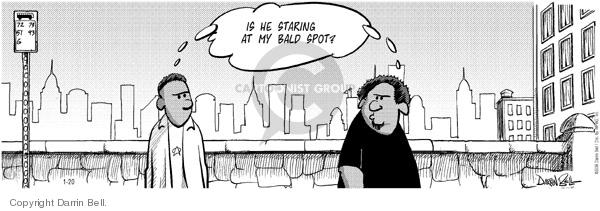 Cartoonist Darrin Bell  Candorville 2006-01-20 bald