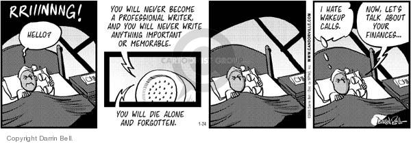 Comic Strip Darrin Bell  Candorville 2006-01-24 die