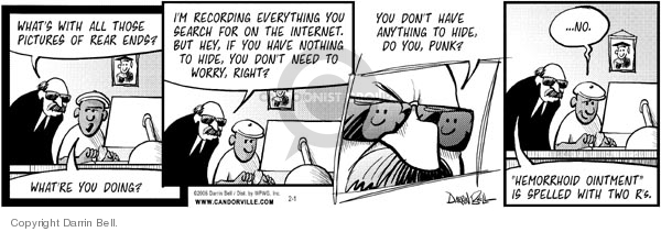 Comic Strip Darrin Bell  Candorville 2006-01-31 fourth amendment