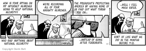 Comic Strip Darrin Bell  Candorville 2006-02-02 national security