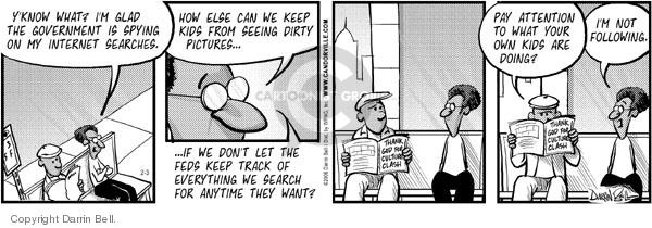 Cartoonist Darrin Bell  Candorville 2006-02-03 bill