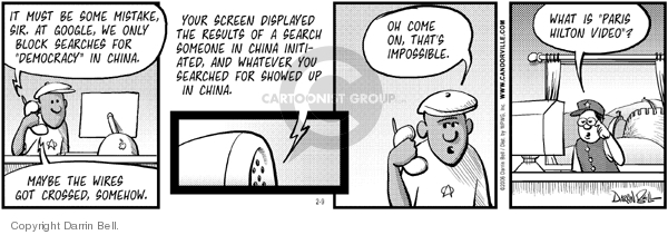 Comic Strip Darrin Bell  Candorville 2006-02-09 internet search