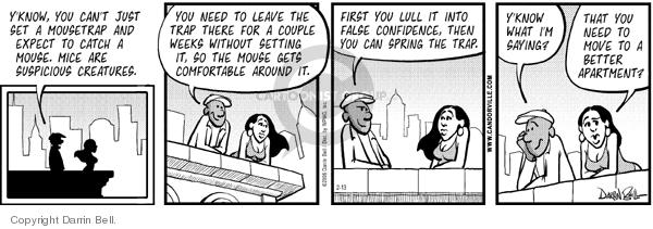 Comic Strip Darrin Bell  Candorville 2006-02-13 relocate