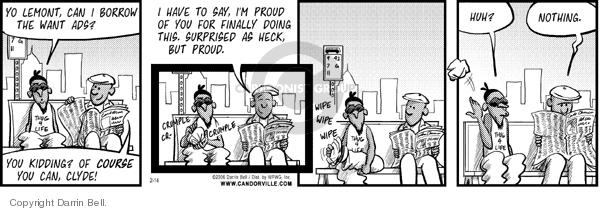 Comic Strip Darrin Bell  Candorville 2006-02-14 initiative