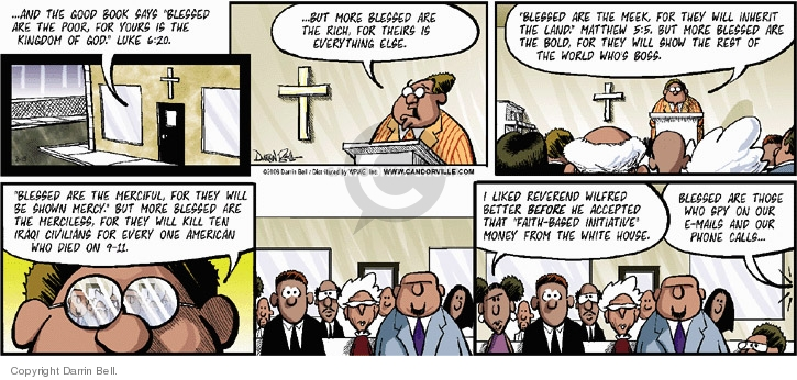 Comic Strip Darrin Bell  Candorville 2006-02-19 church state