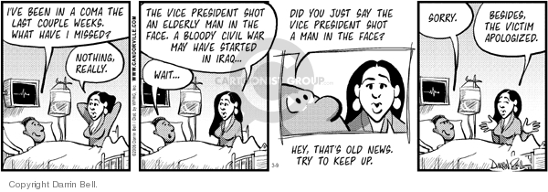 Comic Strip Darrin Bell  Candorville 2006-03-09 Dick Cheney