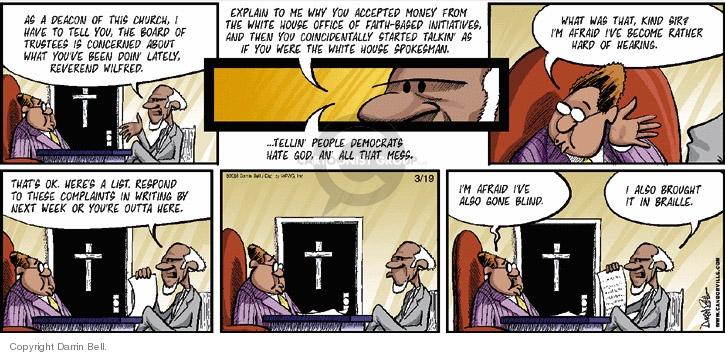 Comic Strip Darrin Bell  Candorville 2006-03-19 church state