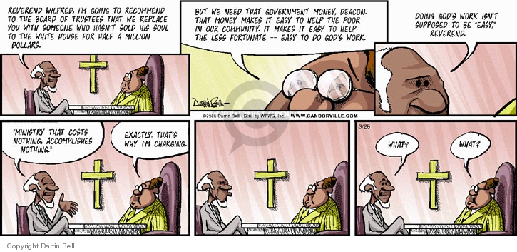 Comic Strip Darrin Bell  Candorville 2006-03-26 church state