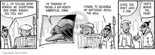 Comic Strip Darrin Bell  Candorville 2006-03-27 break