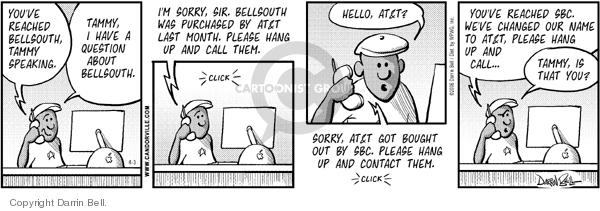 Comic Strip Darrin Bell  Candorville 2006-04-03 merger
